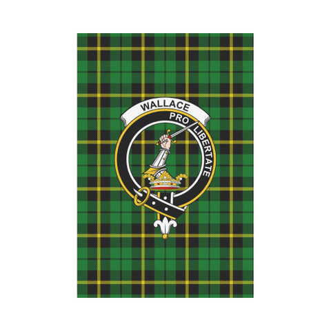Wallace Hunting - Green Tartan Flag Clan Badge K7