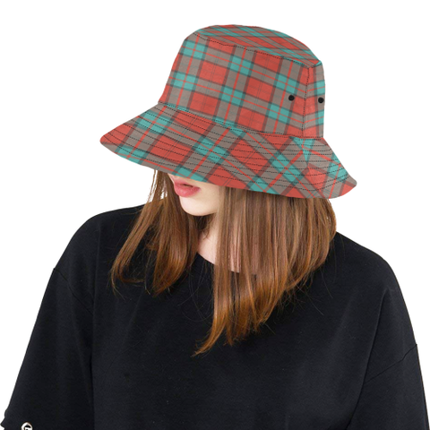 Dunbar Ancient Tartan Bucket Hat for Women and Men K7