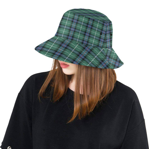 Macdonald Of The Isles Hunting Ancient Tartan Bucket Hat for Women and Men K7