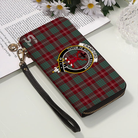 Image of Crawford Ancient Crest Tartan Zipper Wallet™