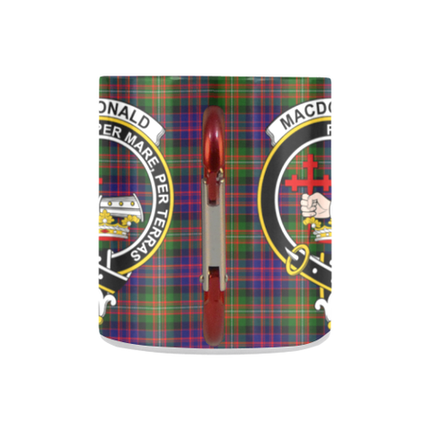 Macdonald Tartan Mug Classic Insulated - Clan Badge K7