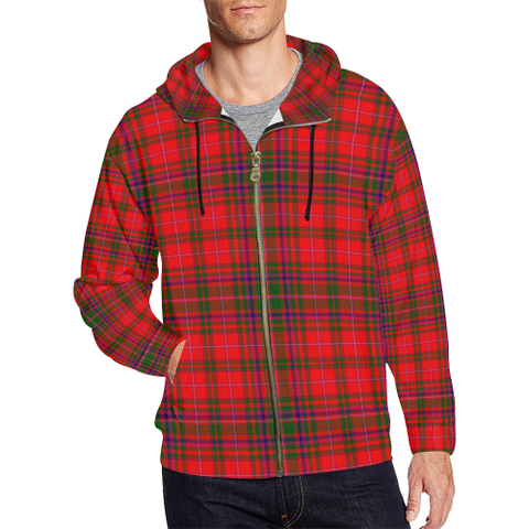 MacDougall Modern Tartan Zipped Hoodie | Special Custom Products