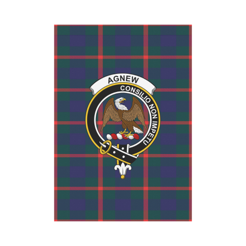 Agnew Modern Tartan Flag Clan Badge K7