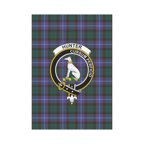Image of Hunter Modern Tartan Flag Clan Badge K7