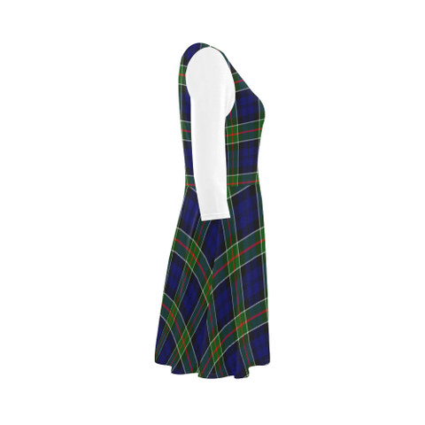 Colquhoun Modern Tartan 3/4 Sleeve Sundress | Exclusive Over 500 Clans