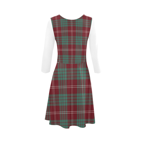 Crawford Modern Tartan 3/4 Sleeve Sundress | Exclusive Over 500 Clans