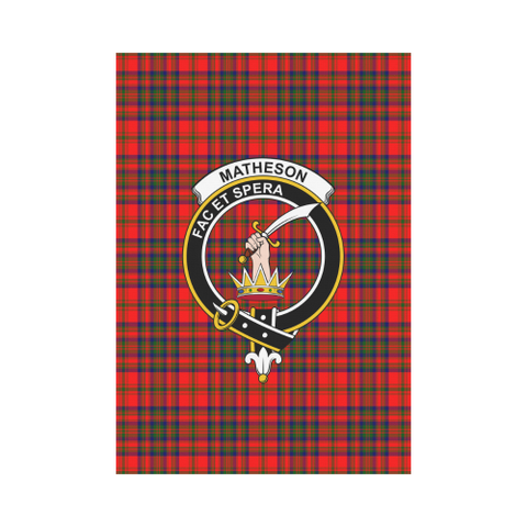 Matheson Modern Tartan Flag Clan Badge | Scottishclans.co