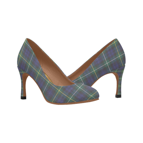 Image of Campbell Argyll Modern Plaid Heels