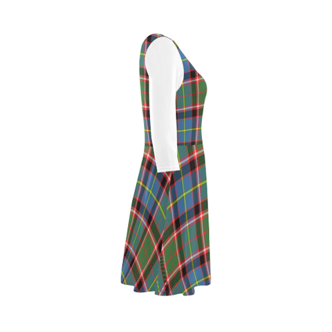Image of Stirling & Bannockburn District Tartan 3/4 Sleeve Sundress | Exclusive Over 500 Clans