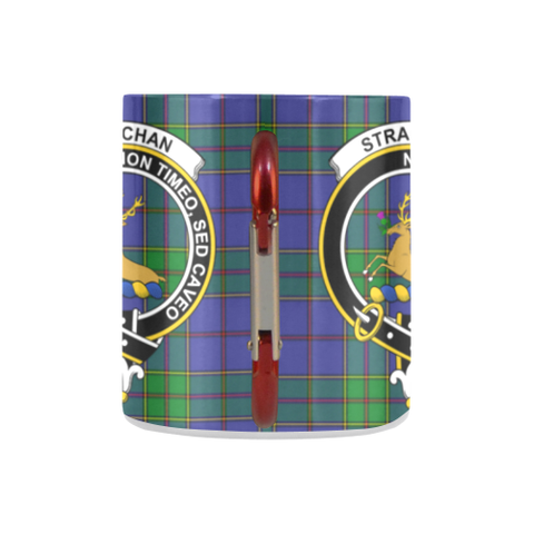 Image of Strachan Tartan Mug Classic Insulated - Clan Badge K7
