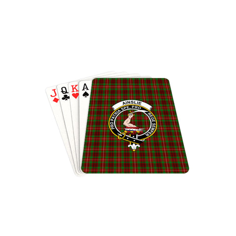 Ainslie Tartan Clan Badge Playing Card TH8