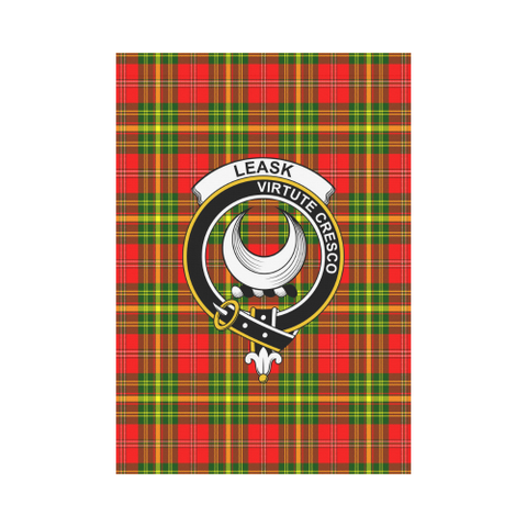 Leask Tartan Flag Clan Badge | Scottishclans.co