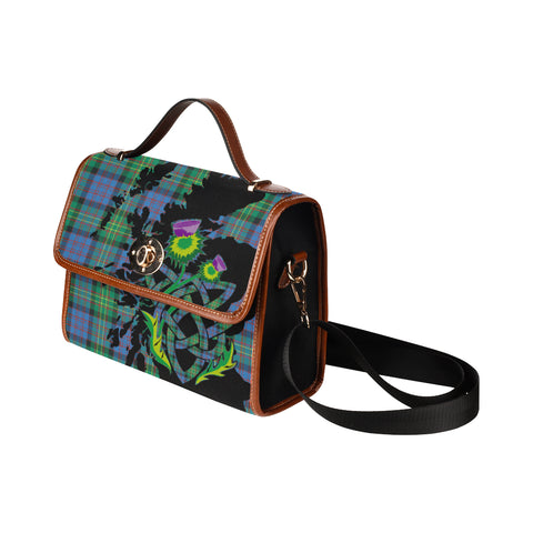 Image of Bowie Ancient Tartan Map & Thistle Waterproof Canvas Handbag| Hot Sale