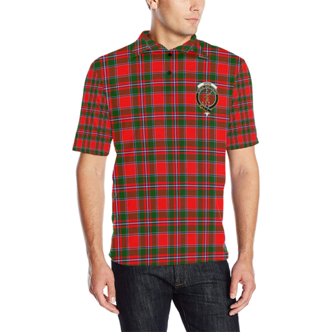 Spens Modern Tartan Clan Badge Polo Shirt