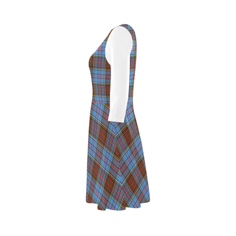 Anderson Modern Tartan 3/4 Sleeve Sundress | Exclusive Over 500 Clans