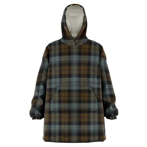 BlackWatch Weathered Snug Hoodie - Unisex Tartan Plaid Front