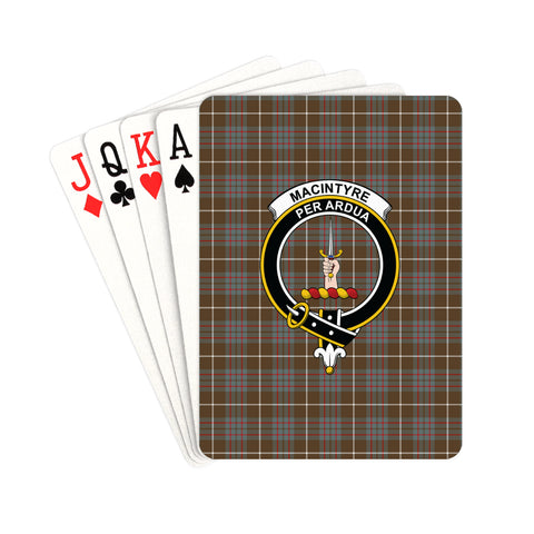MacIntyre Hunting Weathered Tartan Clan Badge Playing Card | scottishclans.co