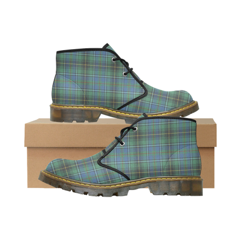 MacInnes Ancient Tartan Chukka Boot | Over 500 Tartans | Special Custom Design | Love Scotland