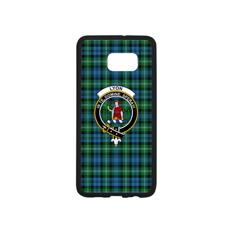 Lyon Tartan Clan Badge Rubber Phone Case TH8