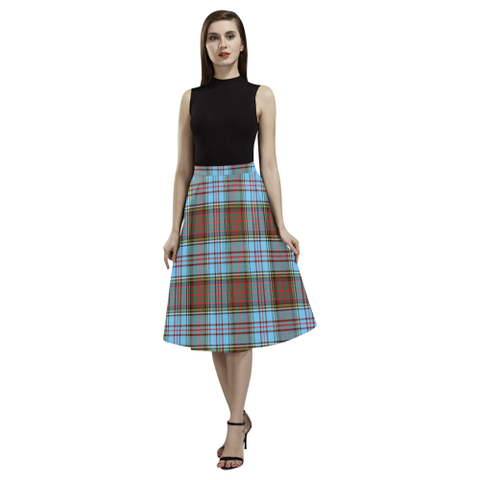 Anderson Ancient Tartan Aoede Crepe Skirt | Exclusive Over 500 Tartan