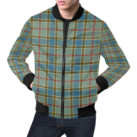 Balfour Blue Tartan Bomber Jacket | Scottish Jacket | Scotland Clothing