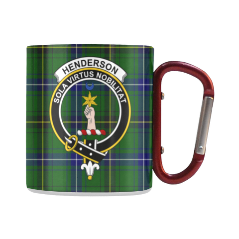Image of Henderson Modern Tartan Mug Classic Insulated - Clan Badge | scottishclans.co