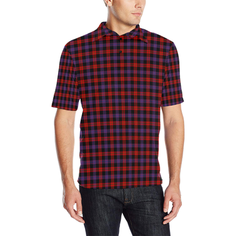 Brown Modern Tartan Polo Shirt