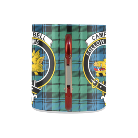 Campbell Ancient Tartan Mug Classic Insulated - Clan Badge K7