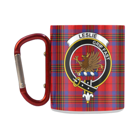 Leslie Modern Tartan Mug Classic Insulated - Clan Badge K7