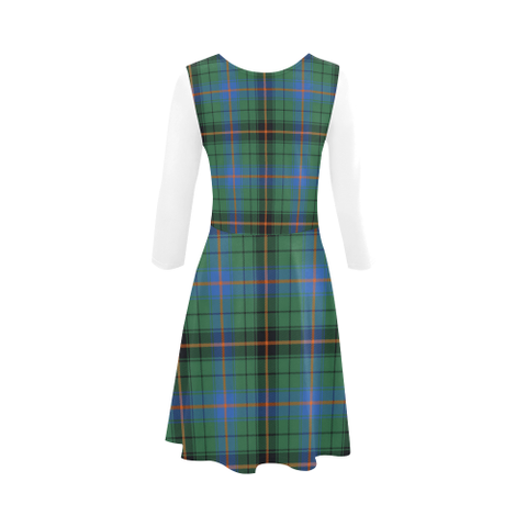 Davidson Ancient Tartan 3/4 Sleeve Sundress | Exclusive Over 500 Clans