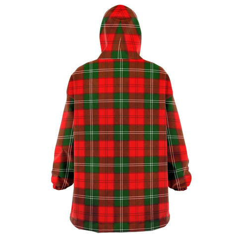 Image of Lennox Modern Snug Hoodie - Unisex Tartan Plaid Back