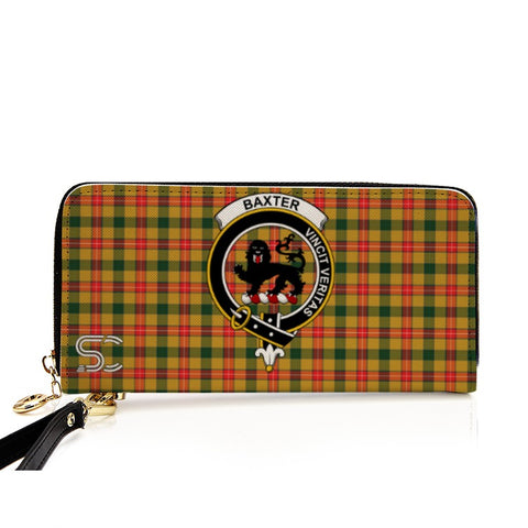 Image of Baxter  Crest Tartan Zipper Wallet
