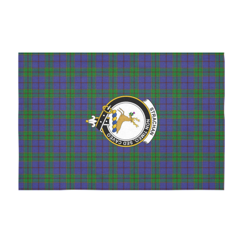 Image of Strachan Crest Tartan Tablecloth | Home Decor