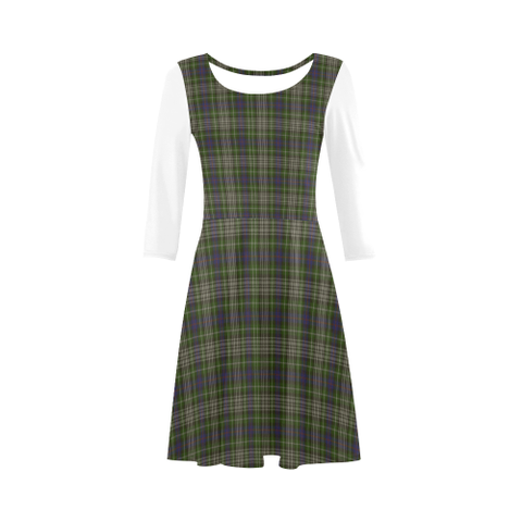 Davidson Tulloch Dress Tartan 3/4 Sleeve Sundress | Exclusive Over 500 Clans