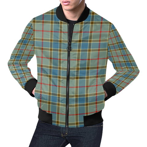 Image of Balfour Blue Tartan Bomber Jacket | Scottish Jacket | Scotland Clothing