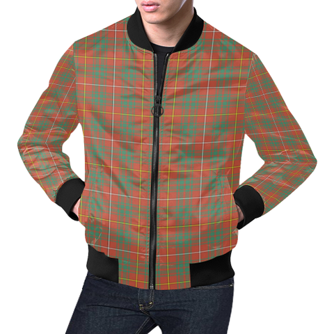 Bruce Ancient Tartan Bomber Jacket | Scottish Jacket | Scotland Clothing