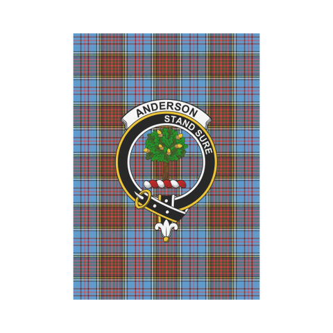 Anderson Modern Tartan Flag Clan Badge | Scottishclans.co