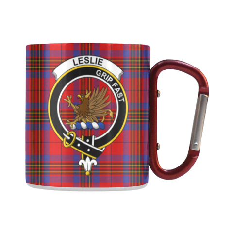 Image of Leslie Modern Tartan Mug Classic Insulated - Clan Badge | scottishclans.co