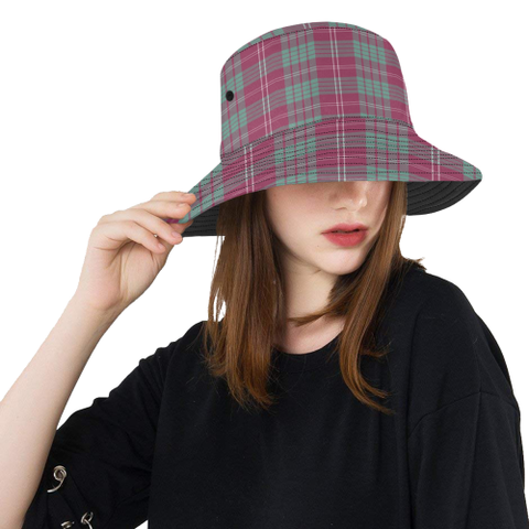 Image of Crawford Ancient Tartan Bucket Hat for Women and Men | Scottishclans.co