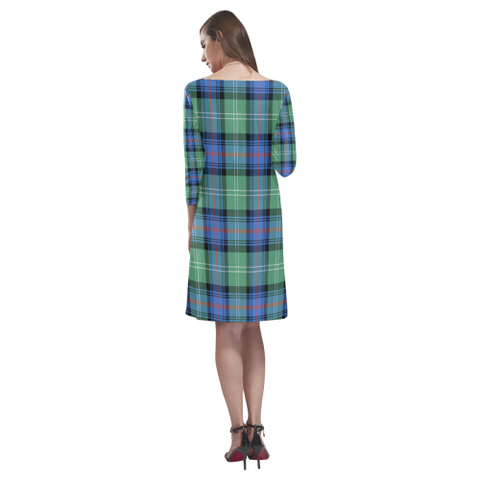 Tartan dresses - Sutherland Old Ancient Tartan Dress - Round Neck Dress TH8