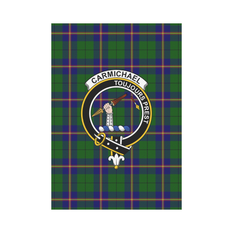 Carmichael Modern Tartan Flag Clan Badge K7