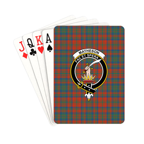Matheson Ancient Tartan Clan Badge Playing Card | scottishclans.co