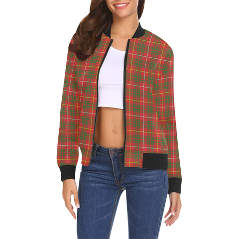 Image of Bruce Modern Tartan Bomber Jacket | Scottish Jacket | Scotland Clothing