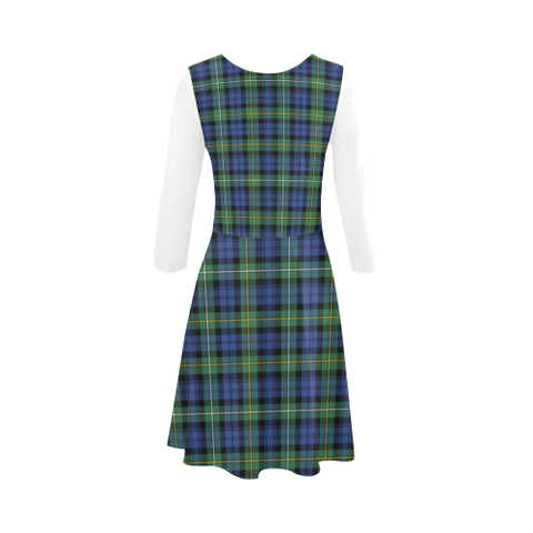 Campbell Argyll Ancient Tartan 3/4 Sleeve Sundress | Exclusive Over 500 Clans