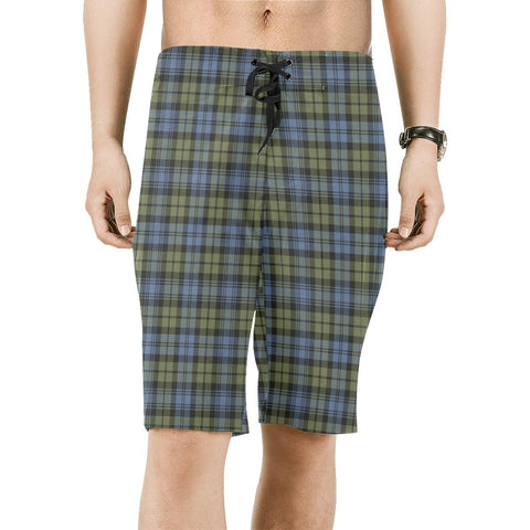 Campbell Faded Tartan Board Shorts | scottishclans.co