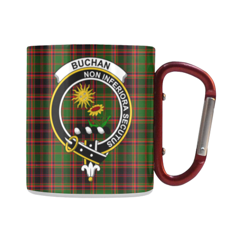 Buchan Modern  Tartan Mug Classic Insulated - Clan Badge | scottishclans.co
