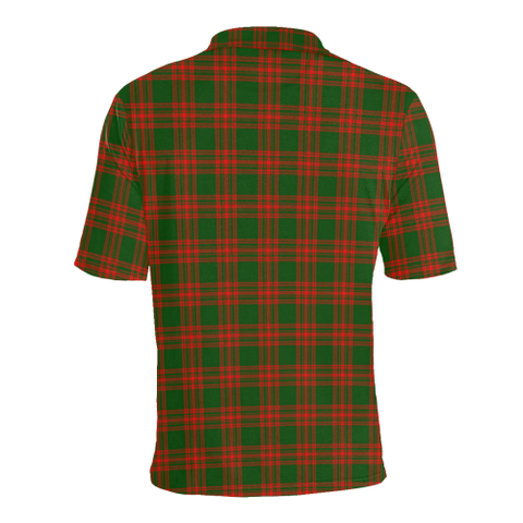 Menzies Green Modern Tartan Polo Shirt HJ4