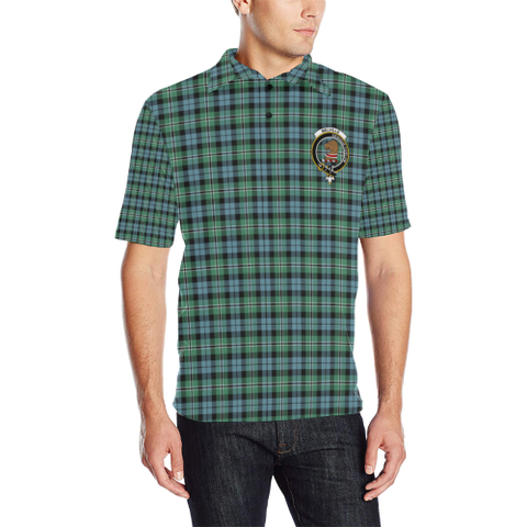Melville Tartan Clan Badge Polo Shirt