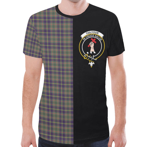 Image of Taylor Weathered T-shirt Half In Me | scottishclans.co