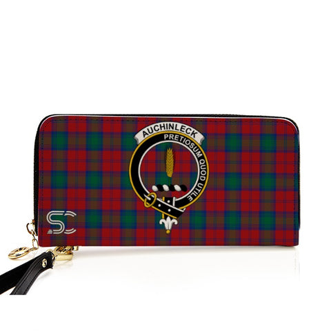 Auchinleck Crest Tartan Zipper Wallet